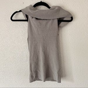 Wilfred Soft Gray Cowl Neck Tank Top